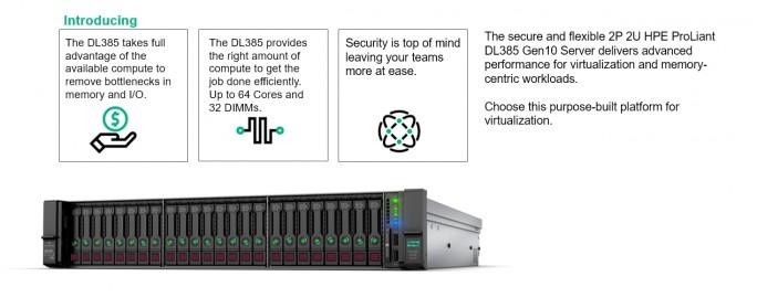 Mit dem neuen HPE ProLiant DL385 Gen10 lassen sich auch virtuelle Umgebungen effektiver betreiben (Screenshot: HPE).