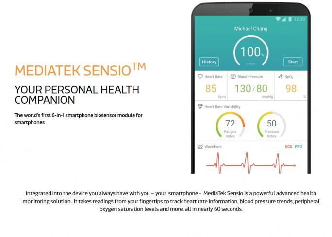 MediaTek Sensio (Screenshot: ZDNet.de)