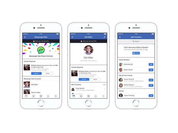 Eltern haben über ihre Messenger-App die volle Kontrolle über die Chat-Kontakte ihrer Kinder (Screenshot: Facebook).