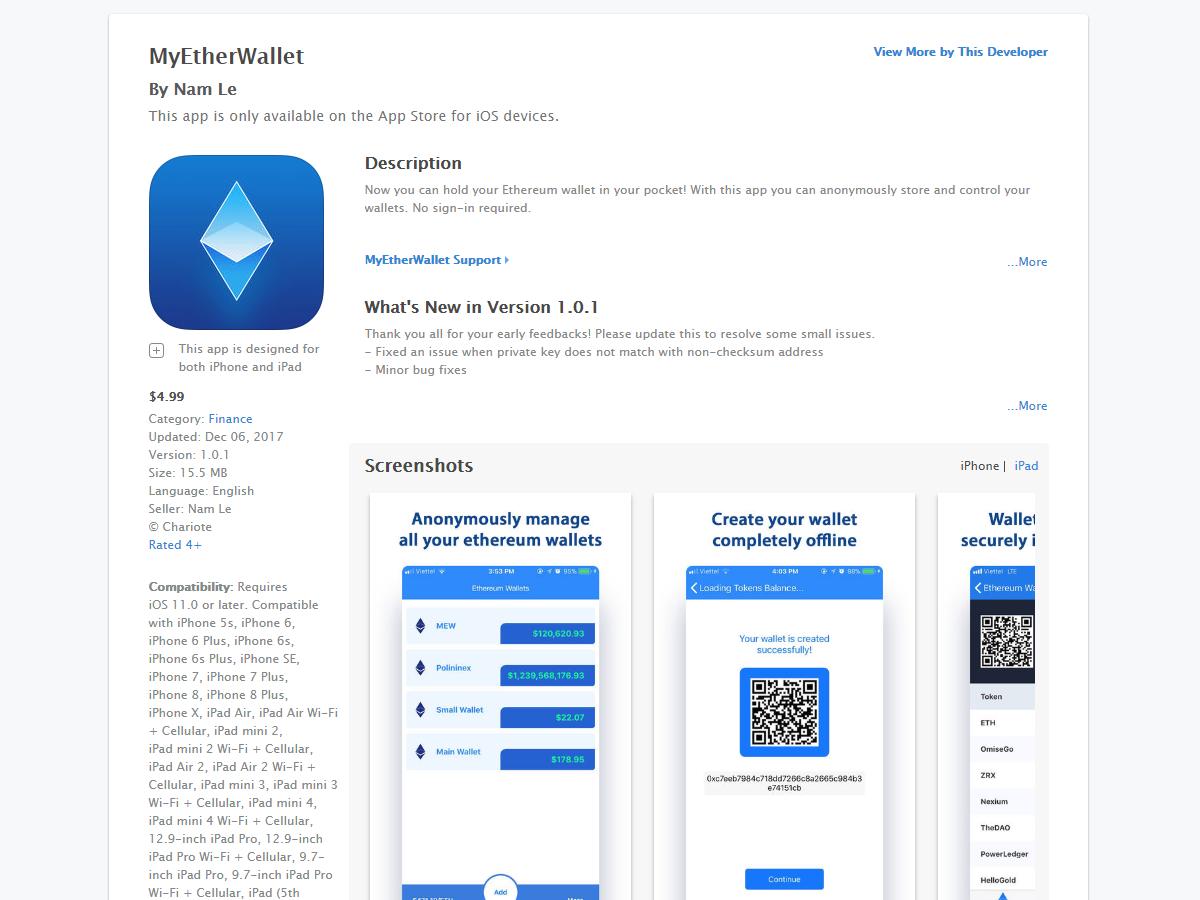 Gefälschte Kryptowährungs-App belegt Top-Position in Apples App Store