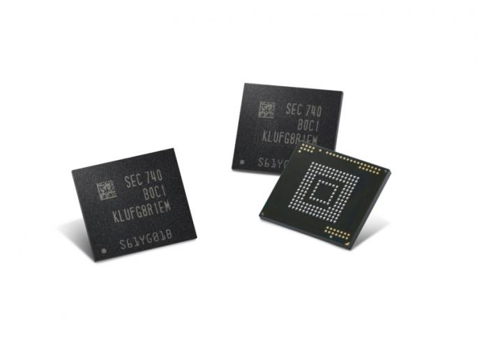 512 GByte großes eUFS-Speichermodul von Samsung (Bild: Samsung)