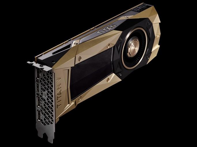 Nvidia Titan V (Bild: Nvidia)