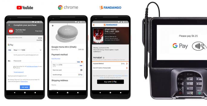 Statt Wallet und Android Pay wird es künftig nur noch Google Pay geben, mit dem Google sämtliche Finanzdienstleistungen bündelt (Bild: Google)