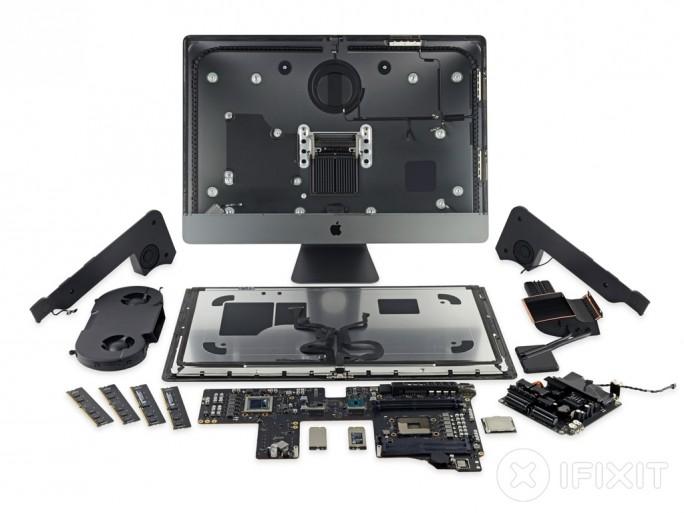 iFixit hat den iMac Pro zerlegt und die schlechte Reparierbarkeit kritisiert (Bild: iFixit).