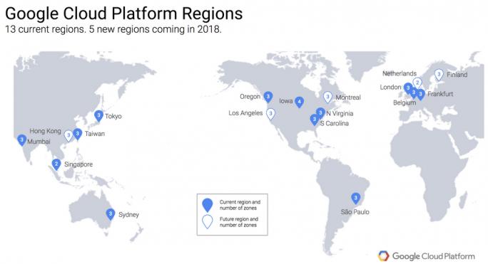 Google investierte in den vergangen drei Jahren rund 30 Milliarden Dollar in den Ausbau der eigenen Infrastruktur aus Rechenzentren und Kabelverbindungen (Bild: Google)