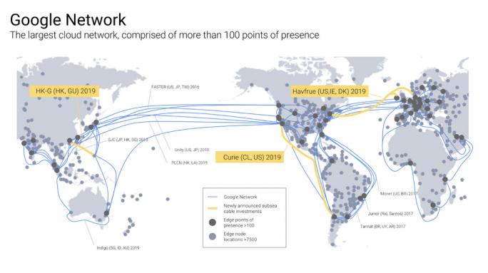 Wichtiger Bestandteil sind auch Verbindungen. Jetzt sollen bis Ende 2019 drei weitere ans Netz gehen (Bild: Google)