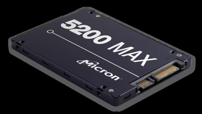 Micron 5200 SATA SSD ist nur im Formfaktor 2,5-Zoll verfügbar und soll bei Durchsatz und Speicher-Dichte gegenüber dem Vorgänger mit einem 64-Layer-3D-NAND-Speicher mehr Leistung bieten (Bild: Micron)