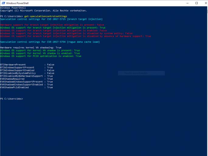 Microsoft hat zwar Updates für Windows 7, 8.1 und 10 bereitgestellt, die vor den Angriffen auf Meltdown und Spectre schützen sollen, einige Systeme benötigen jedoch zusätzlich ein Firmware-Update (Screenshot: ZDNet.de).