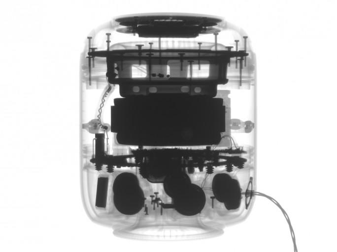 Röntgenaufnahme des Apple HomePod (Bild: iFixit)