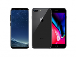 Samsung Galaxy S8 und Apple iPhone 8 (Bild: Samsung/Apple)
