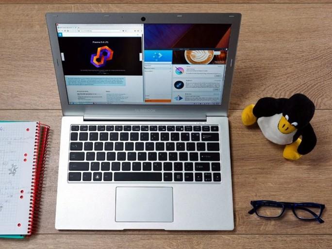 KDE-Slimbook 2 läuft auf Core i5 oder Core i7-Prozessoren und basiert auf KDE neon (Bild: KDE)