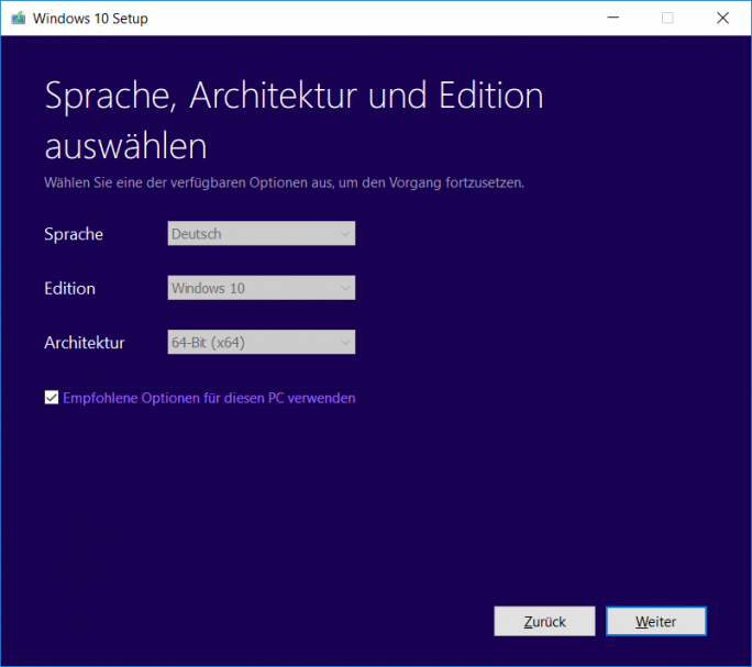 Windows 10 1803 April-Update: MediaCreationTool-Status (Bild: ZDNet.de)