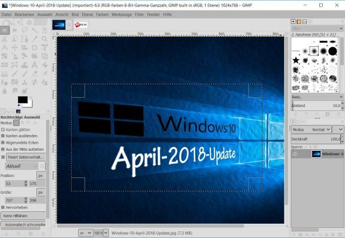 GIMP 2.10 (Screenshot: ZDNet.de)