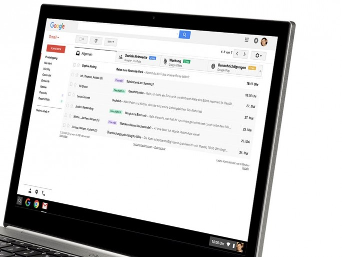 Gmail: Web-Version (Bild: Google)
