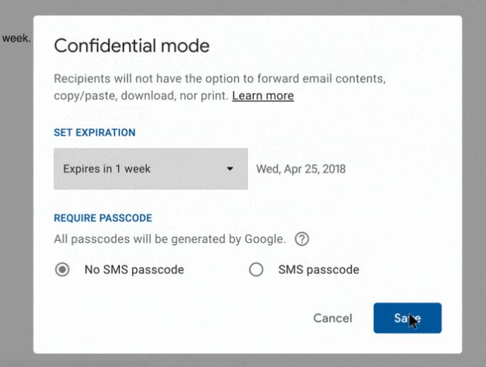 """Der Modus """"Vertraulich"""" soll sensible Inhalte schützen (Bild: Google LLC)."""