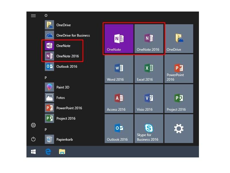 Office 2019 integriert OneNote als Universal App