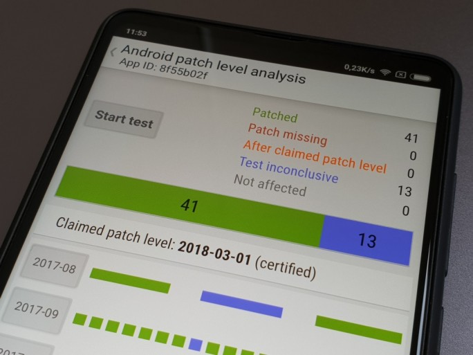 SnoopSnitch analysiert Android-Sicherheitspatches (Bild: ZDNet.de)