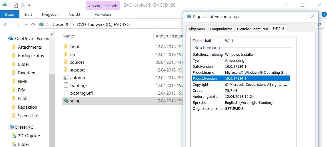 Windows 10 April-2018-Update herunterladen und installieren