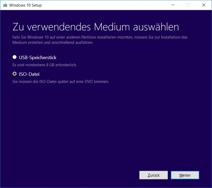 Windows 10 1803 April-Update: MediaCreationTool USB-Stick oder ISO (Bild: ZDNet.de)