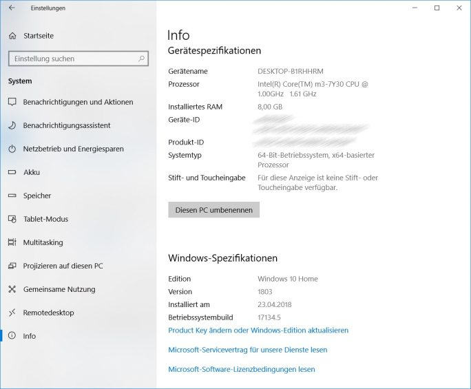 Windows 10 April-2018-Update:: KB4135051 (Bild: ZDNet.de)