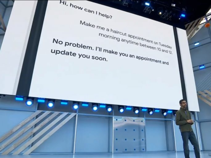 Google Duplex (Screenshot: ZDNet.de)