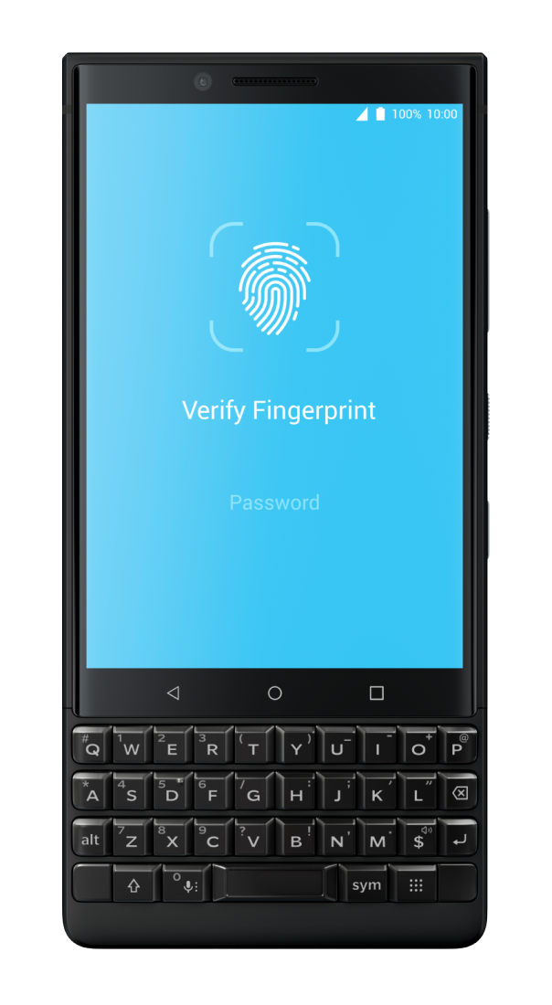 Blackberry KEY2 Locker Fingerprint Authentication (Bild: TVL Communication)