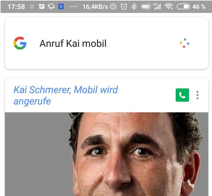 Google Assistant: Anruf-Kai-Mobil (Bild: ZDNet.de)
