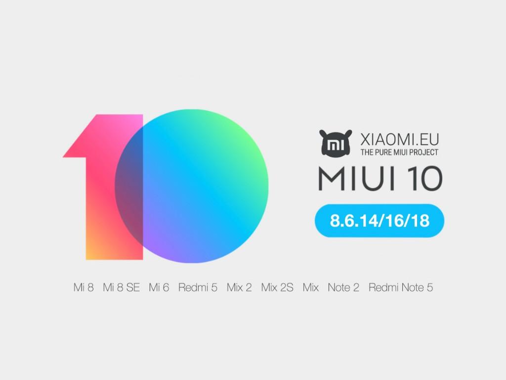 MIUI 10: Beta der Community-Edition von XIAOMI.EU veröffentlicht