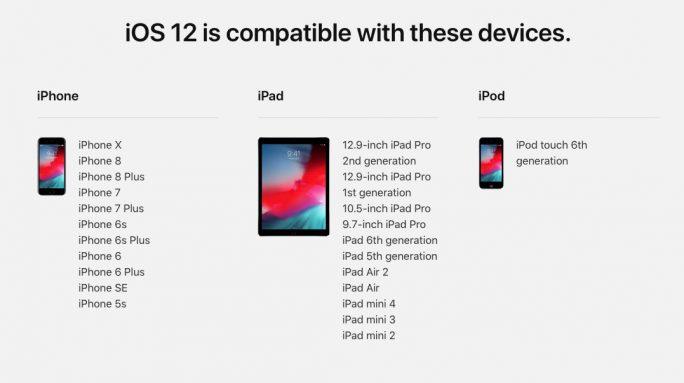 iOS 12: Support für 5 Jahre alte iPhones (Bild: Apple)