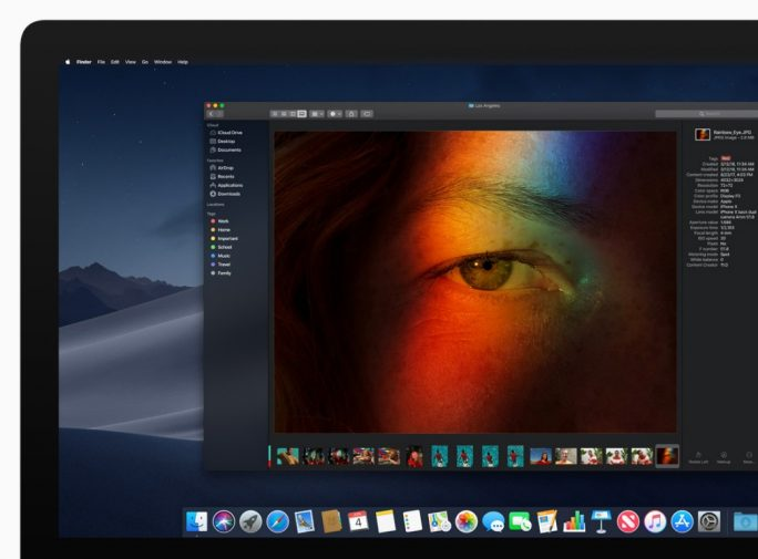 macOS 10 14 Mojave: Dark Mode (Bild: Apple)