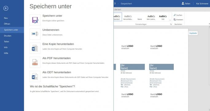 office-365-pdf (Screenshot: ZDNet.de)