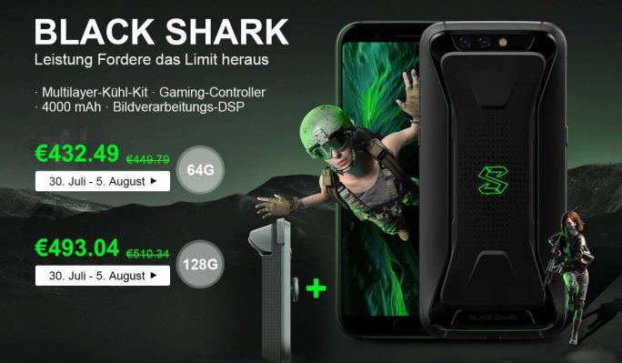 Xiaomi Black Shark bei Gearbest mit Game Controller (Screenshot: ZDNet.de)
