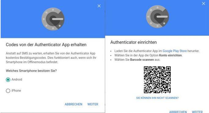 Konto mit Authenticator App verbinden (Bild: ZDNet.de).