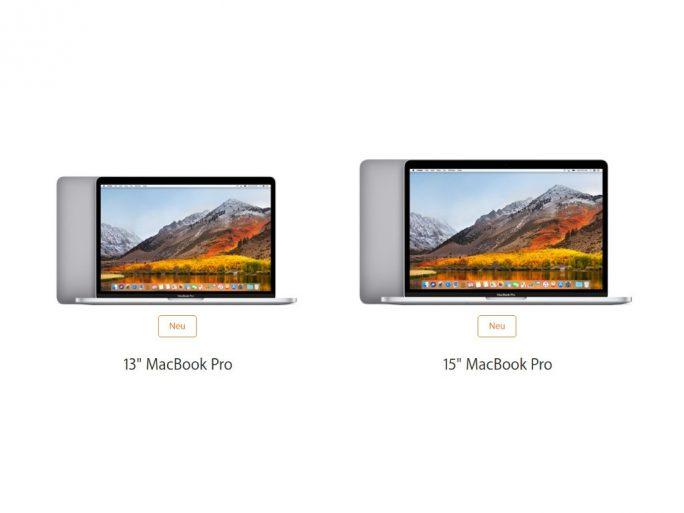 """MacBook Pro 13"""" und 15"""" (Bild: Apple)"""
