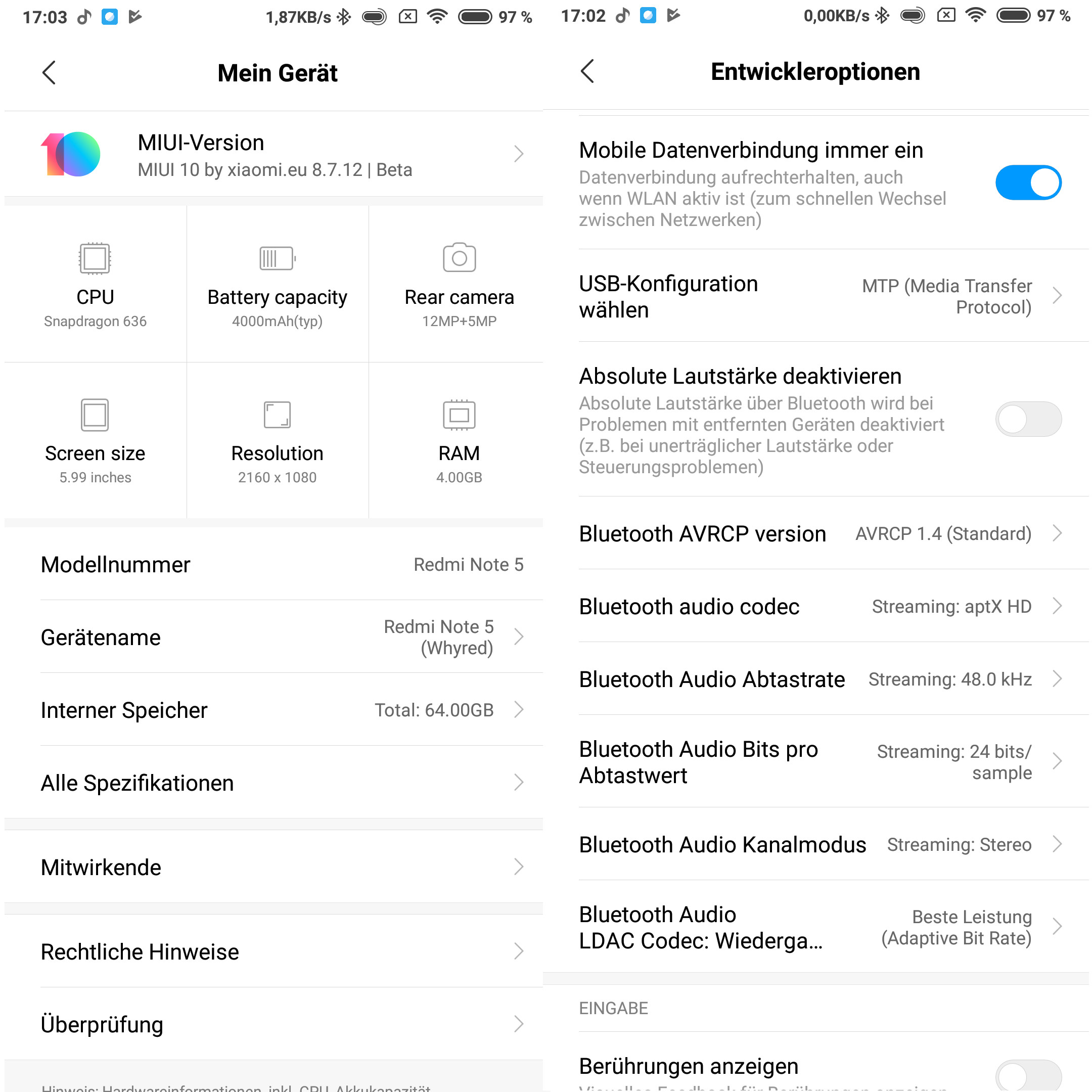 Xiaomi Redmi Note 5: aptx HD aktivieren   ZDNet de