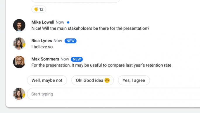 G Suite Smart Reply (Bild: Google)