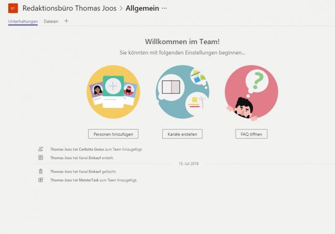 Termine lassen sich in Teams in der Weboberfläche genauso nutzen, wie in der Desktop-App sowie auf dem Smartphone (Screenshot: Thomas Joos).