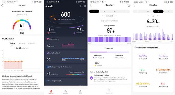 Amazfit Stratos: App inzwischen auf Deutsch (Screenshot: ZDNet.de)