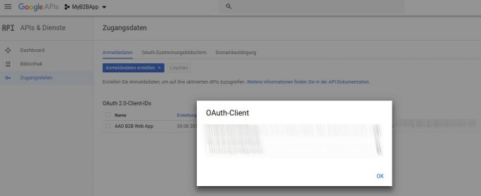 GoogleAPIs-Client-ID (Screenshot: ZDNet.de)