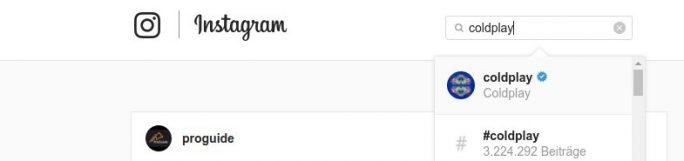 Instagram: blaues Häckchen signalisiert Verfizierung (Screenshot: ZDNet.de)