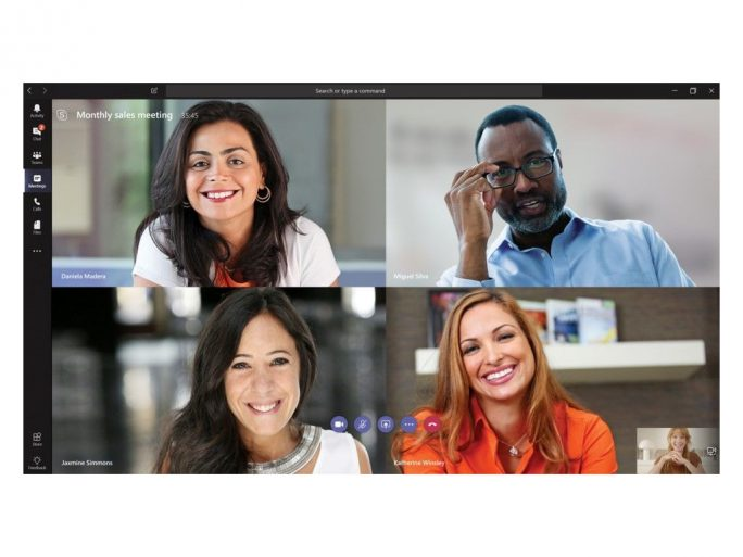 MS Teams: Video-Call (Bild: MIcrosoft)