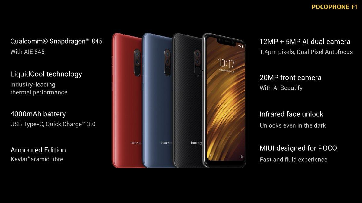Poco Farben.Pocophone F1 Von Xiaomi Mit Snapdragon 845 Für 329 Euro