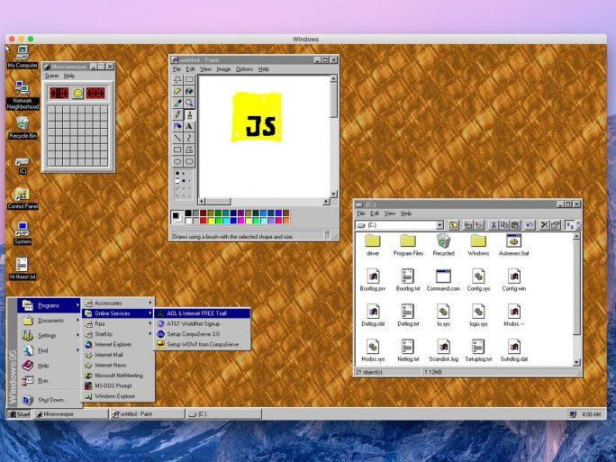 Windows 95 als Electron-App (Bild: Felix Rieseberg)