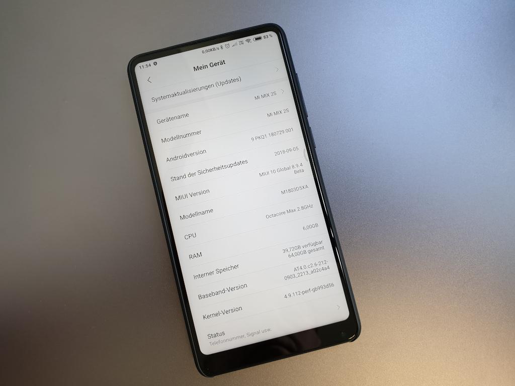 Android 9 Pie Ffentliche Beta Fr Mi Mix 2s Steht Bereit Xiaomi Mit September Patch Bild