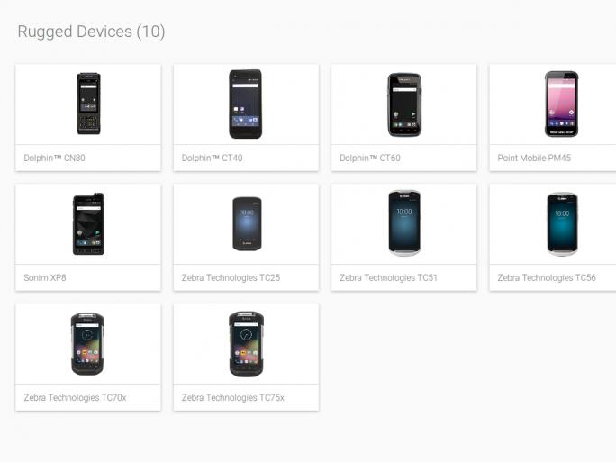 Erste Rugged Smartphones im Programm Android Enterprise Recommended (Bild: Google)