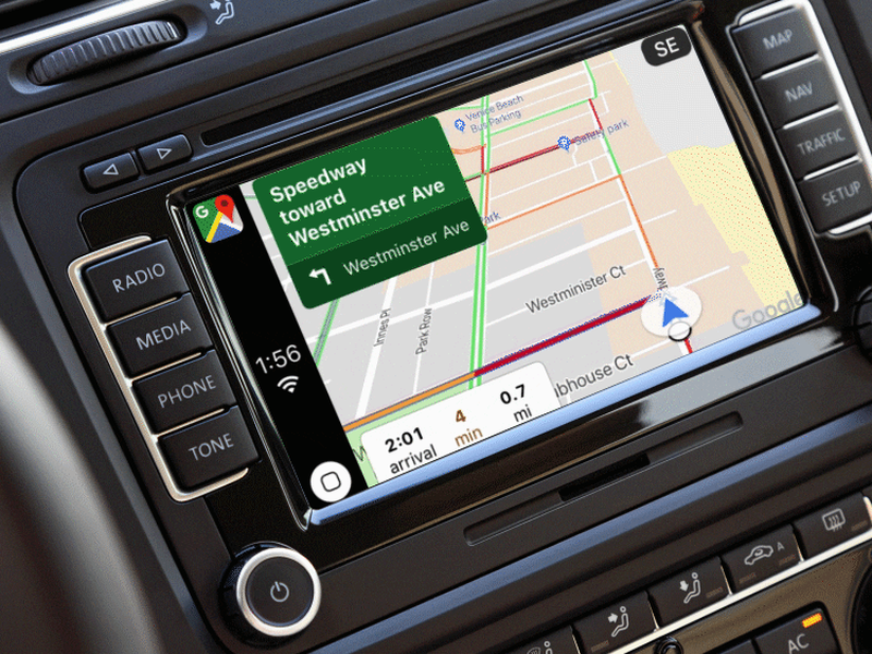 Google Maps unterstützt Apple CarPlay