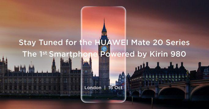 Huawei Mate 20 mit Kirin 980 wird am 16. Oktober in London vorgestellt (Bild: Huawei)