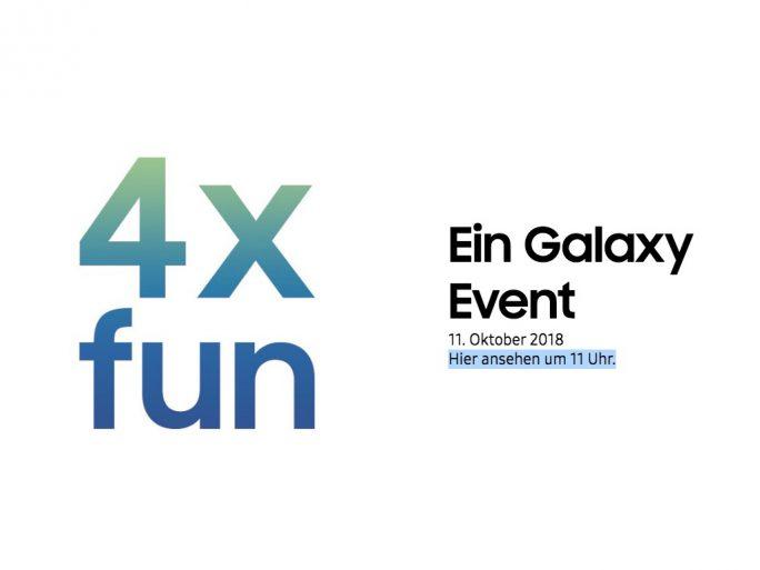 Samsung-Event am 11. Oktober 2018 startet um 11 Uhr (Screenshot: ZDNet.de)