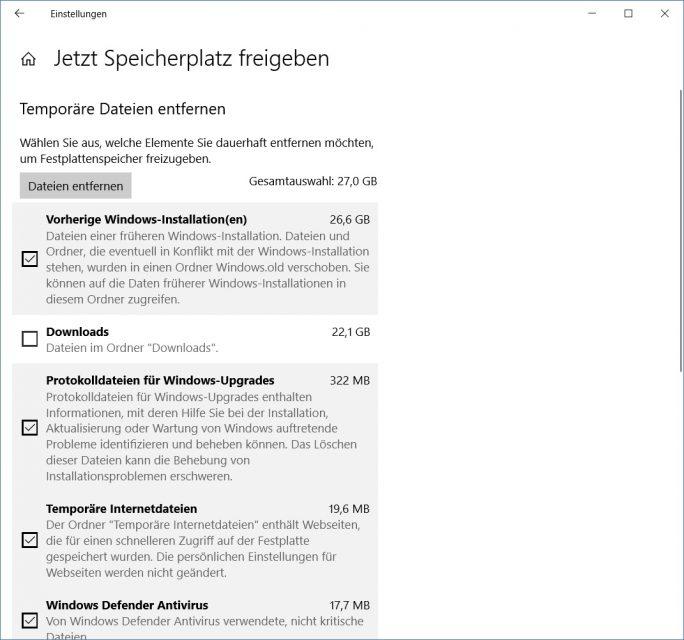 Windows-10-1809-Oktober-2018-Update-Storage-Sense (Bild: ZDNet.de)