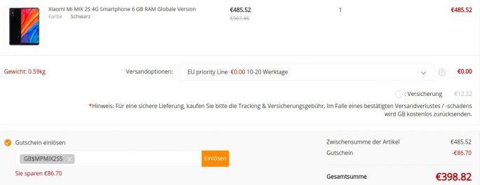 Xiaomi M _MIX 2S mit 128 GByte für unter 400 Euro (Screenshot: ZDNet.de)